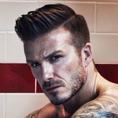 david beckham slick pompadour hairstyle for men