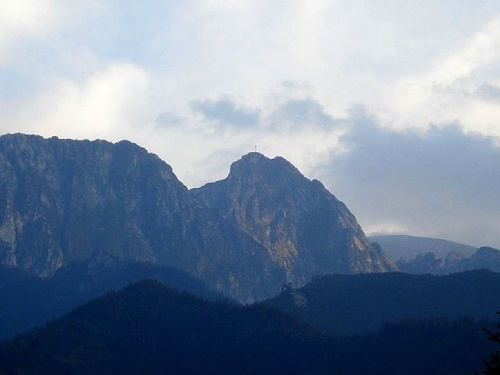 Giewont Mountain aka The Sleeping Knight - do you see the resemblance???  Do you see the Cross around his mouth?!?!?!