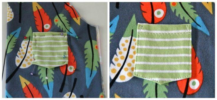 Nähtipp Brusttasche aufnähen | Nähblog von Rapantinchen - Schnittmuster für Anfänger