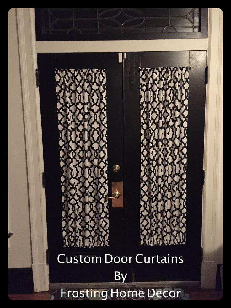 Black Designer French Door Curtains Curtain Patio Door