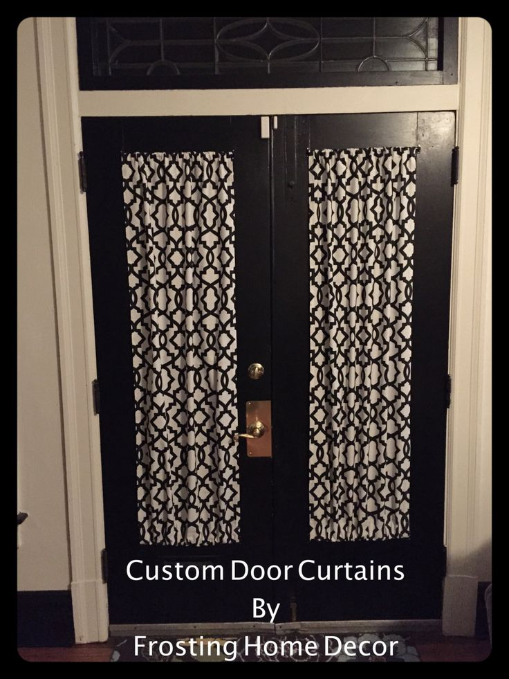 Labor Day Sale Black Designer French door curtains Curtain,  patio door curtain, door curtains, small window curtains, Black and white by FrostingHomeDecor on Etsy