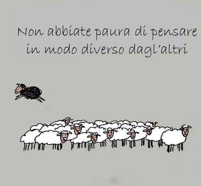 ....essere la pecora nera, non è sempre un male...