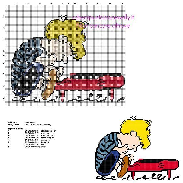 Schroeder - Peanuts Pattern