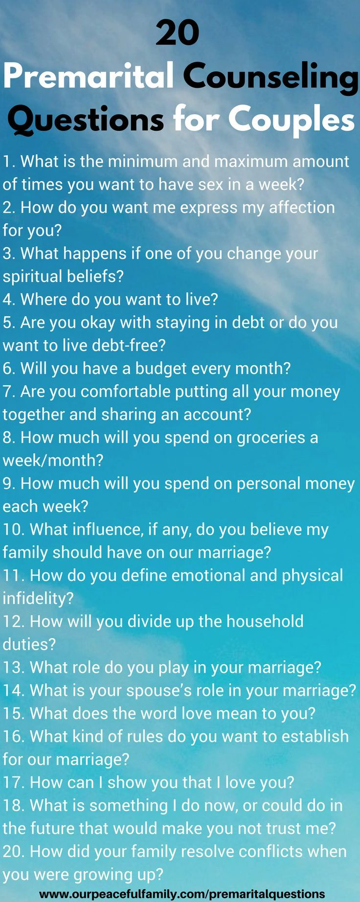 25 Premarital Counseling Questions Each Couple Should Focus on Earlier than Marriage  #C…