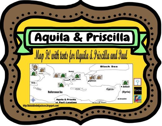 bible fun for kids paul with aquila priscilla