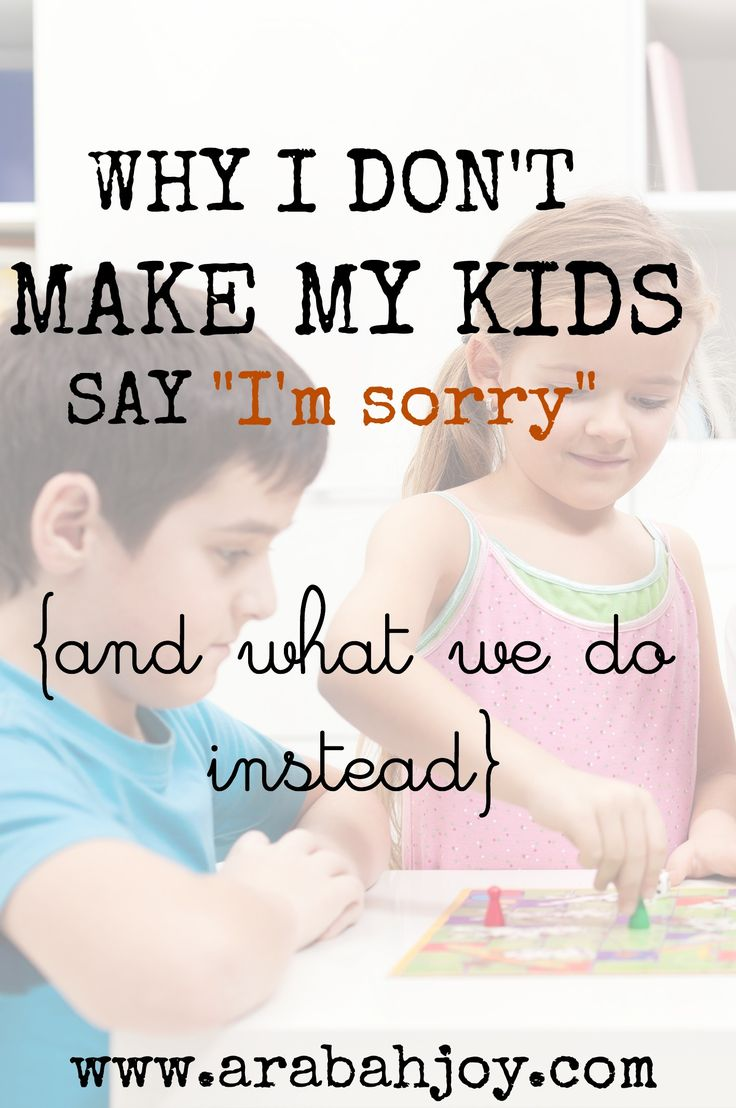 """Why I don't make my kids say """"I'm sorry"""" and what we do instead"""