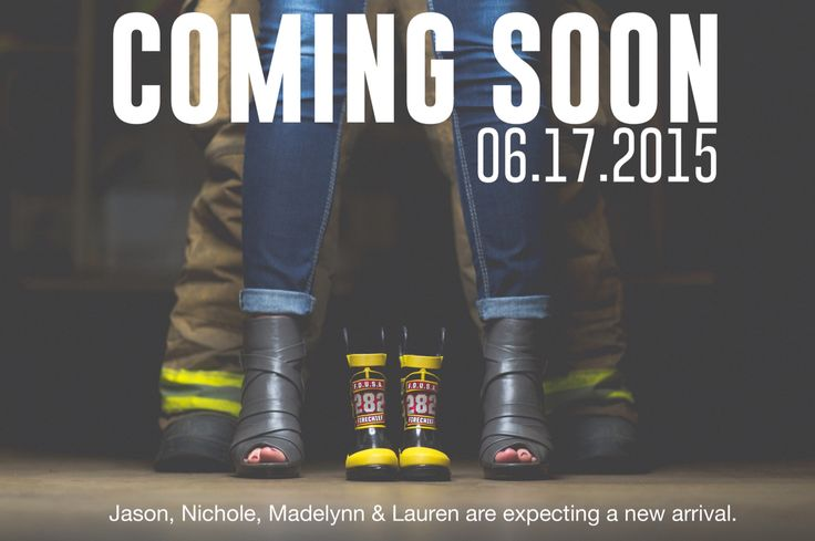 Baby firefighter announcement