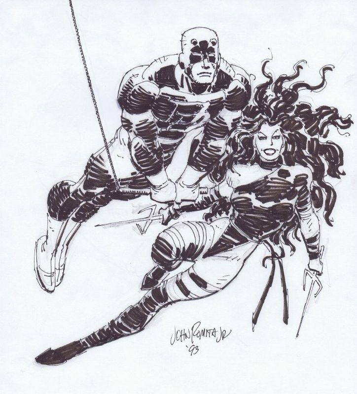 Daredevil And Elektra •John Romita Jr.