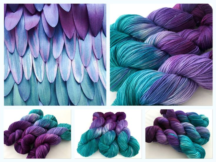 Feathery Leaves. Hand dyed yarn by Witch Candy