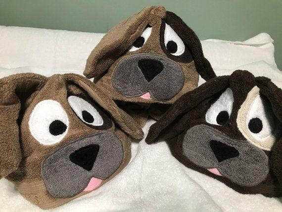 Puppy Dog Hooded Towel Hooded Towel Hooded Towel Diy Kids