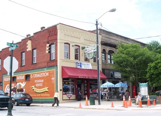 Hendersonville NC - A variety of charming stores and yummy food and ice cream!