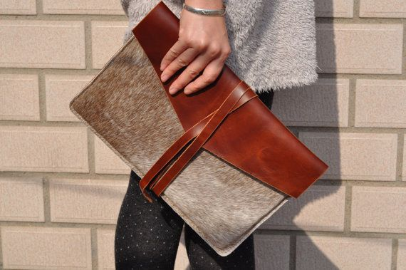 MacBook Pro 13-inch Leather Laptop bag sleeve cover