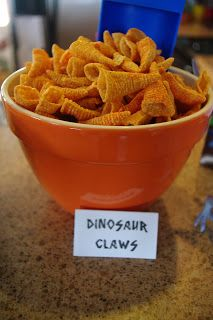 Dinosaur claws. Scales could be potato chips.