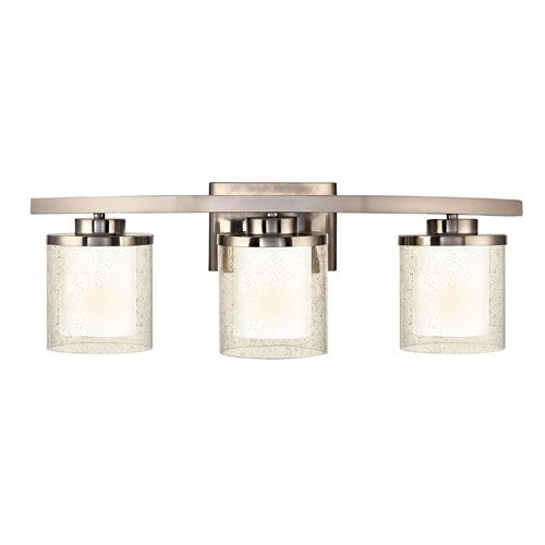 ... Satin Nickel Bath Fixture Dolan Designs 3 Light Bathroom Lighting Wall