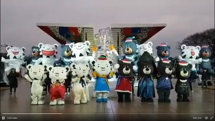 PyeongChang 2018 ‏ Verified account   @pyeongchang2018  24 Dec 2017 More 수호랑&반다비 총 출동, 행복한 크리스마스 보내세요! #Soohorang and #Bandabi Wish you a Merry Christmas! __ #2018평창 #마스코트 #수호랑 #반다비 #PyeongChang2018 #Olympics #Paralympics #mascots #HappyHoliday #MerryChristmas #holiday #greetingTranslate from Korean