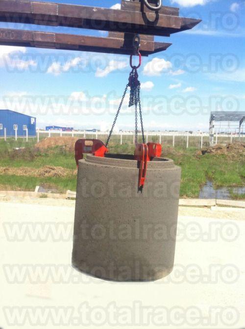 Livram din stoc Bucuresti dispozitive din lant cu clesti IPCC deschidere 40-140 mm pentru ridicare camine de beton / tuburi beton Date tehnice , stoc & pret : http://echingi.ro/produse/clesti-tuburi-beton