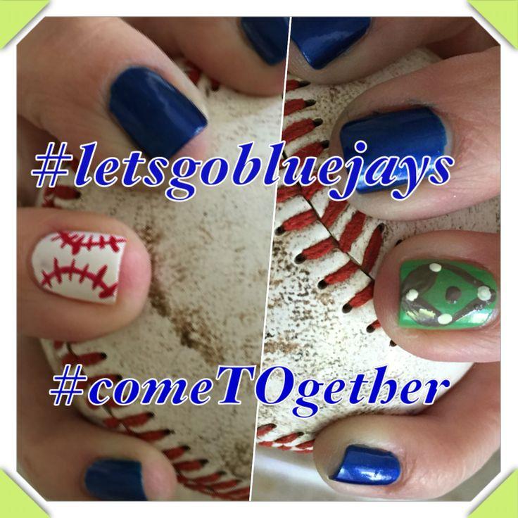 #bluejays#toronto#cometogether#letsgobluejays#nails#manicure