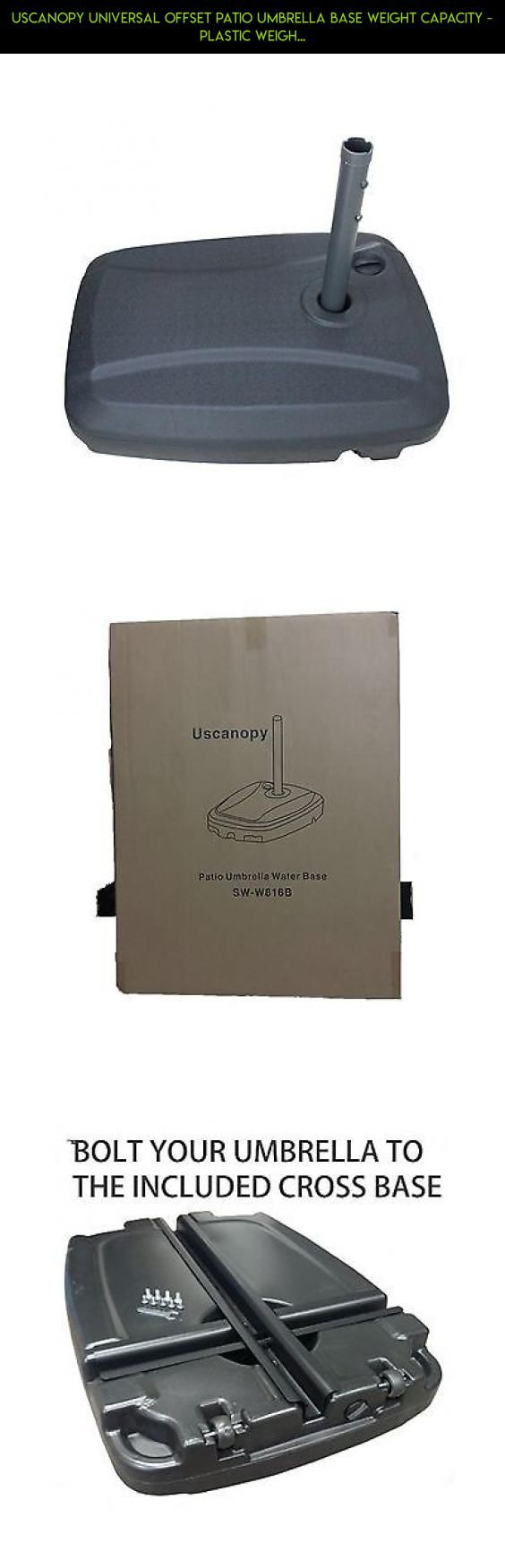 Uscanopy Universal Offset Patio Umbrella Base Weight Capacity   Plastic  Weigh... #technology