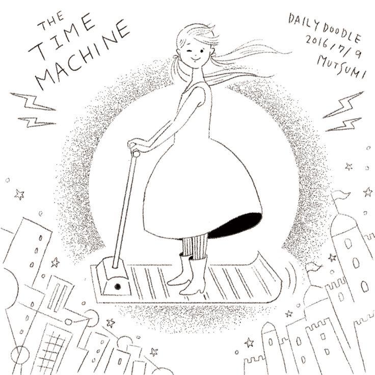 DailyDoodle  時代から時代へ❗️  #イラスト #illustration #doodle #らくがき #空想と未来月間 #mutsumidailydoodle