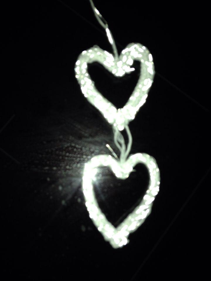 I cord hjärtan med reflexgarn