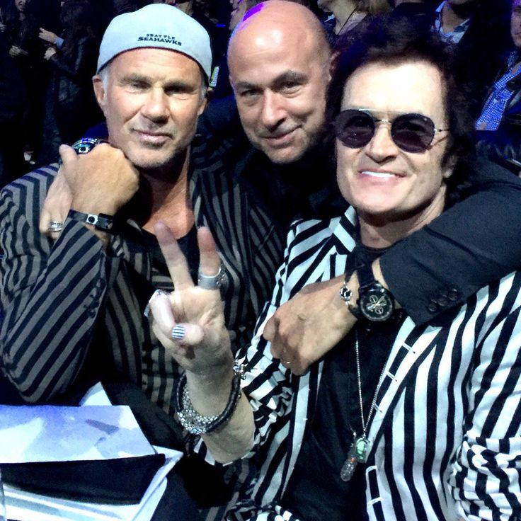 With brothers Chad Smith & John Varvatos #NYC #RockHall2016