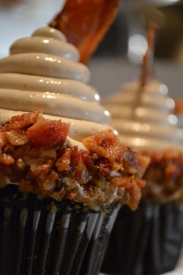 Maybe a manly birthday option- Maple Bacon Cupcakes