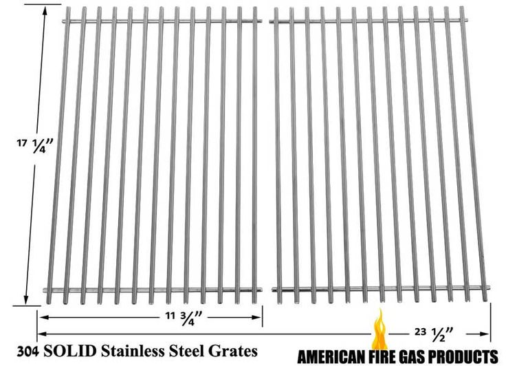 2 PACK WEBER 9869 STAINLESS STEEL COOKING GRATES FOR GENESIS SILVER B AND C, GENESIS GOLD B AND C, GENESIS 1000-3500, SPIRIT 700 GAS GRILL MODELS Fits Compatible Weber Models : 211701, 2261001, 311801, 3720301, 3721001, 3731001, 3820301, 3831001, 4421001, 4421301, 4431001, 4431301, 4521301, 4531001, 4531301, 471401, 5360001, 5390001, 571201, 6350009, 6721301, 6740001, 6770001, 6831001, GENESIS 2000 LP Read More @http://www.grillpartszone.com/shopexd.asp?id=33960&sid=35970