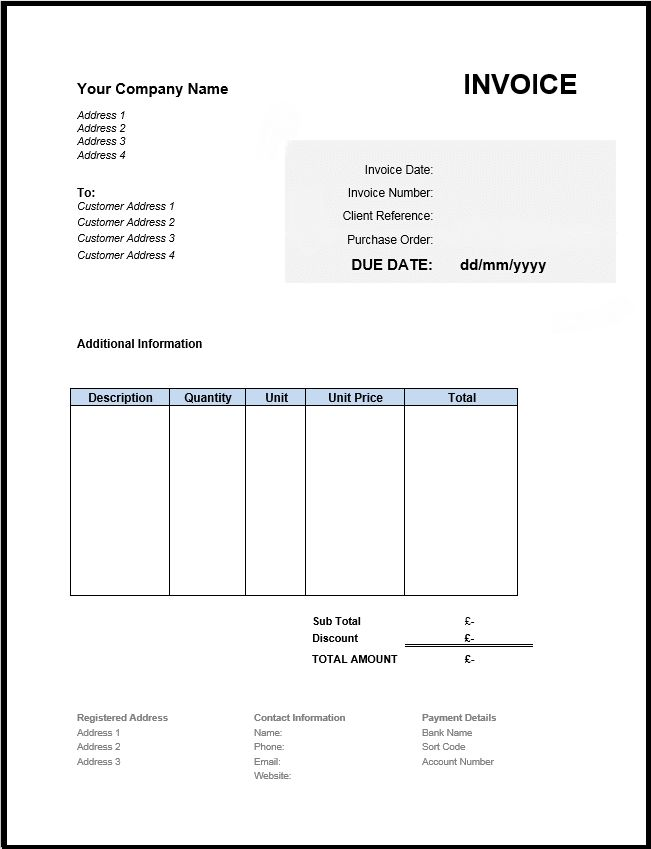 tour travels invoice sample