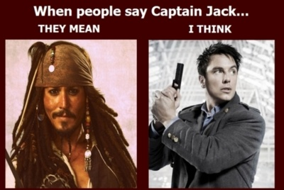 For those of us who know Doctor Who and Torchwood. Just to say- I have nothing against Jack Sparrow of course. He called himself a Captain- no one else did, though. ;D