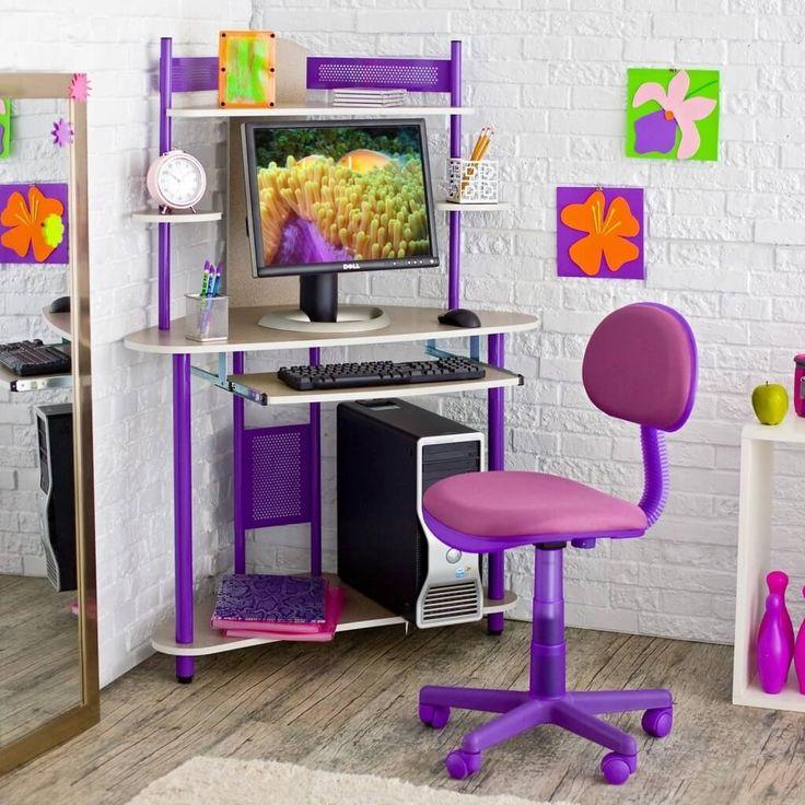Modern Kids Study Room With Modern Study Desk Chair Hardwood ...