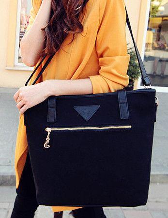 Europe Style Retro Zipper Opening Shoulder Bag_Bags_Wholesale Bags_Wholesalekingdom.net