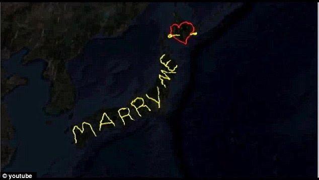 enjoymarket: Ασύλληπτο: Μία πρόταση γάμου ορατή από το διάστημα...