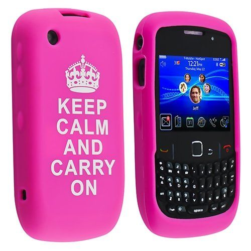eForCity Silicone Skin Case Compatible with BlackBerry Curve / 9300, Hot Pink with - Keep Calm And Carry On - Quote 8520 - http://www.mobilebliss.com/eforcity-silicone-skin-case-compatible-with-blackberry-curve-9300-hot-pink-with-keep-calm-and-carry-on-quote-8520 - http://ecx.images-amazon.com/images/I/51mibf-CzoL.jpg