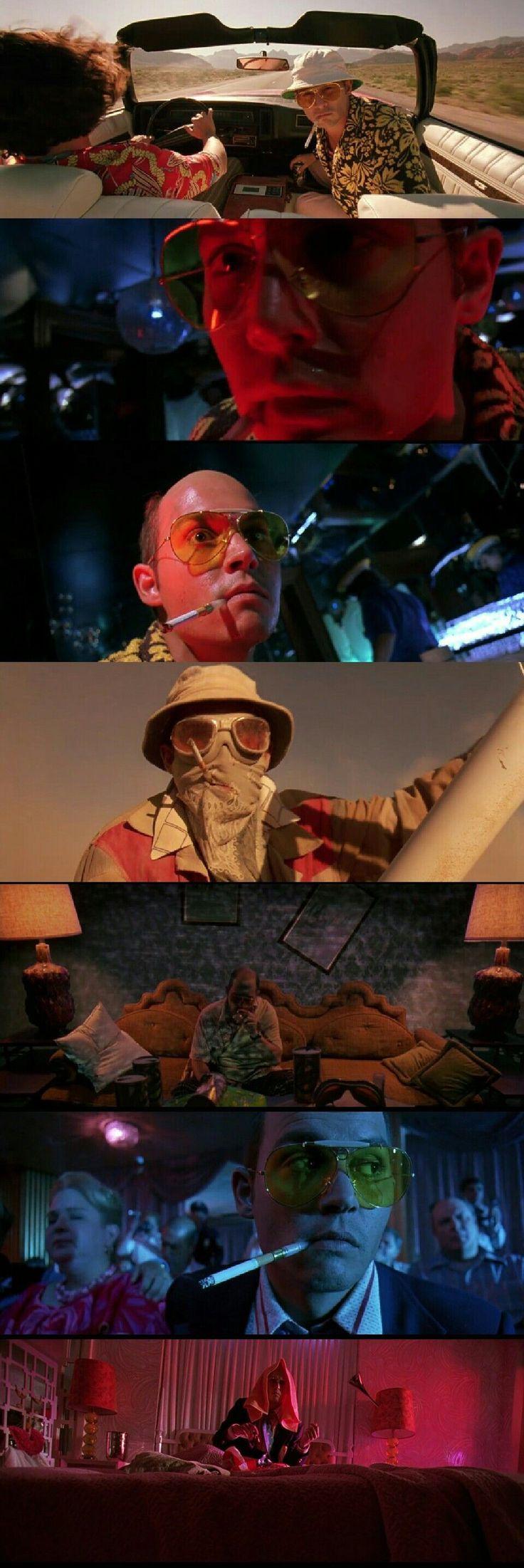 """Johnny Deep as Raoul Duke in """" Fear and Loathing in Las Vegas """"(1998). #VideoMaker #FilmSchoolsReview"""