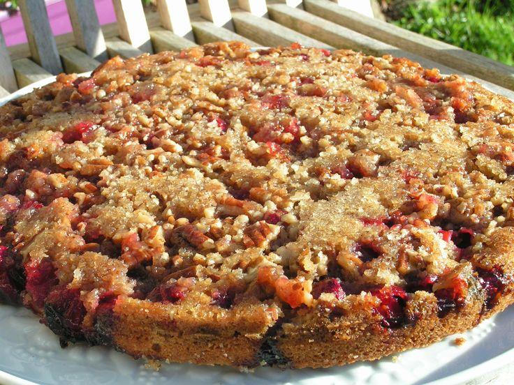 gâteau aux canneberges et noix de Pécan