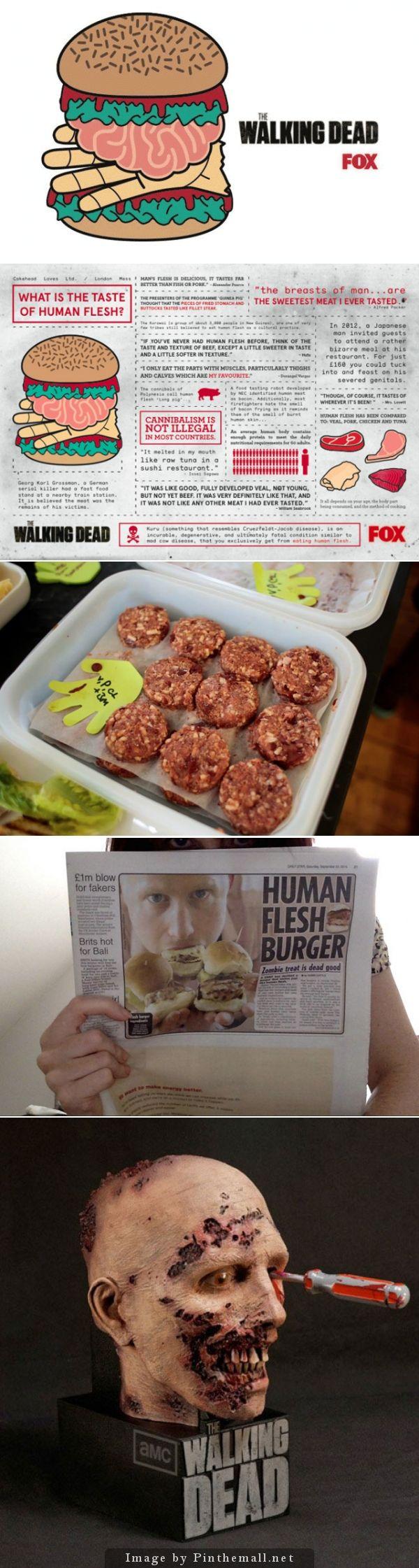 The Walking Dead 5 Human Hamburger by London Mess / Miss Cakehead | Unconventional Fox Tv