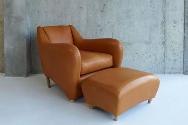 Balzac armchair and ottoman