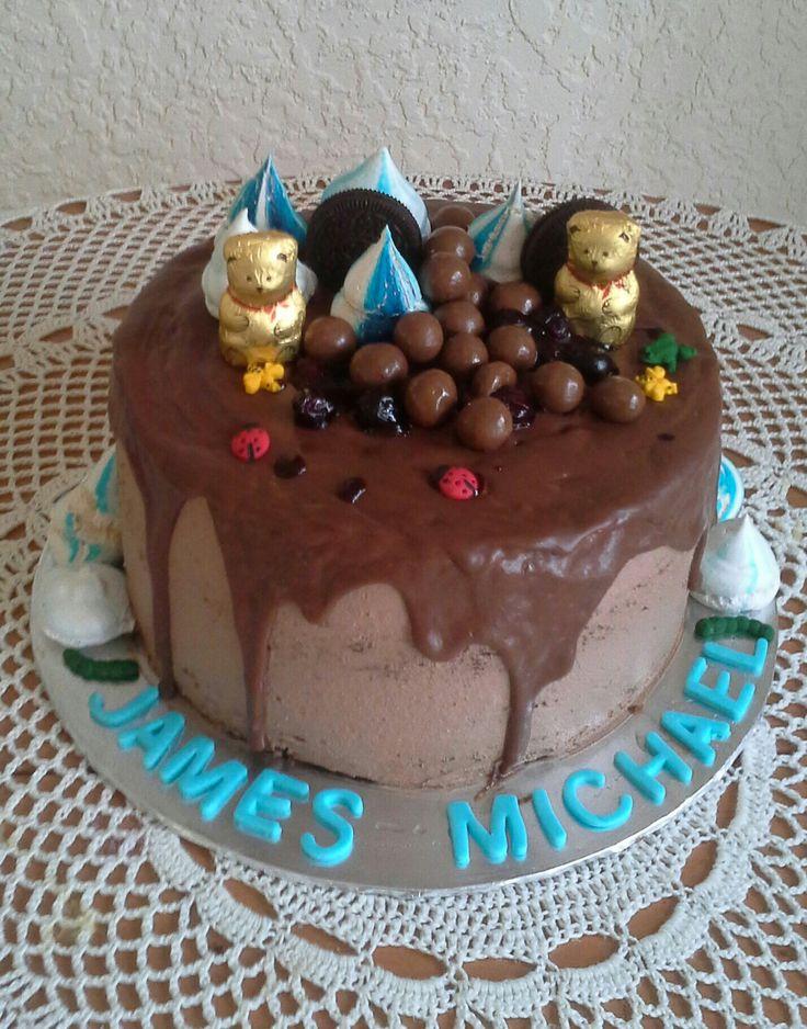 Twin baby dedication cake