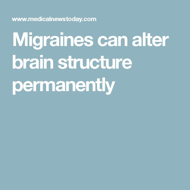 Migraines can alter brain structure permanently