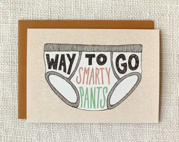 Funny Graduation Card Congratulations Card by witandwhistle