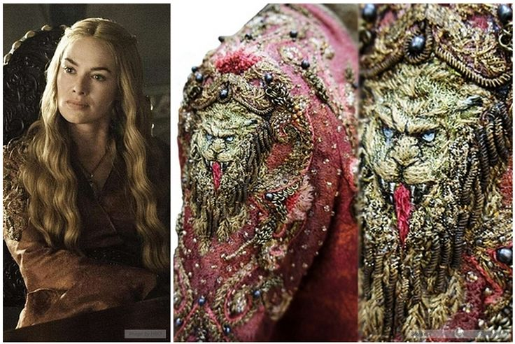 detail of Cersei's wardrobe from Game Of Thrones