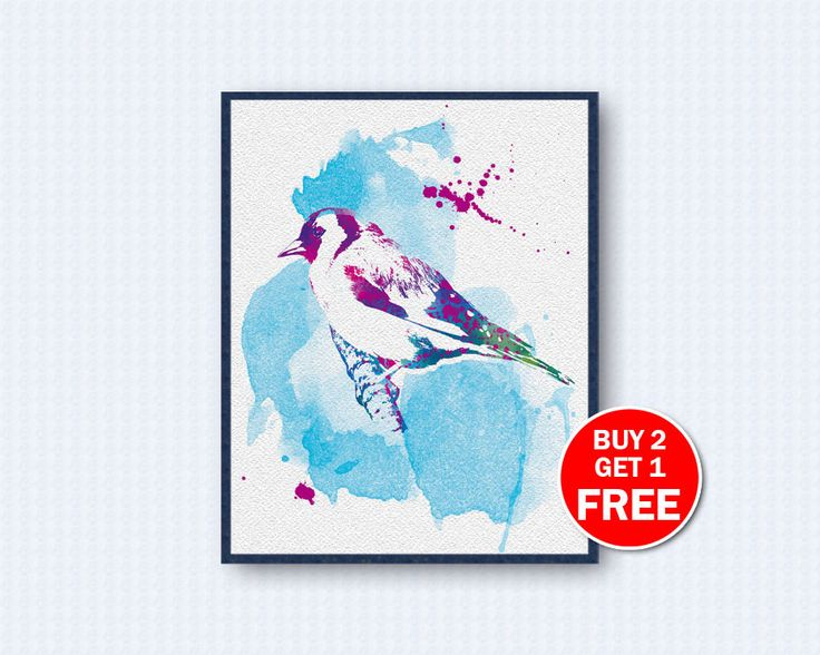 Goldfinch Poster, Goldfinch Watercolor,  Bird Poster, Birds Movie, Watercolor Art, Nature, Kinder, Wall Decor, Home Decor by TheWoodenKat on Etsy