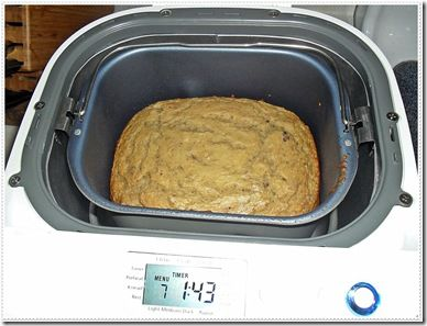 Bread Machine Banana Bread