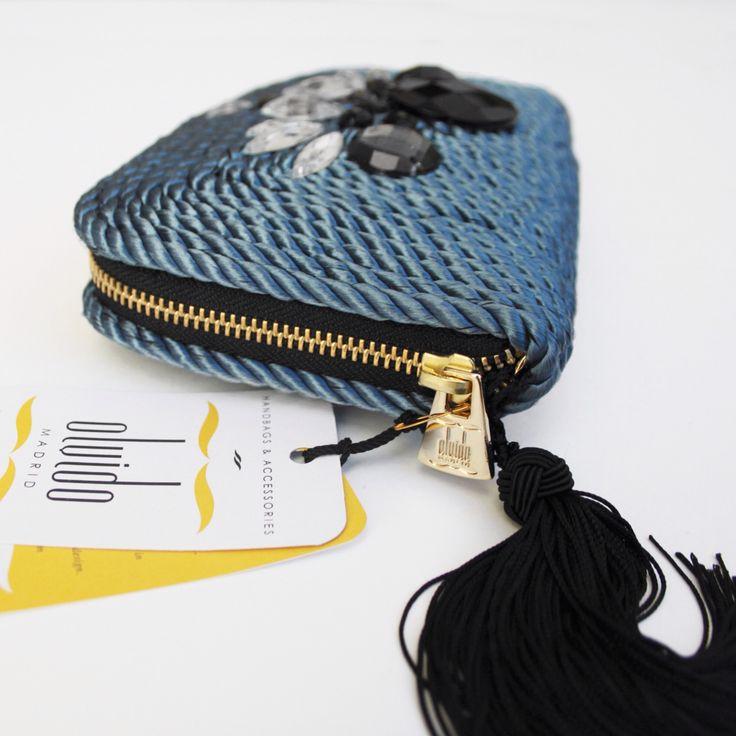 ● Bolso de cordón de seda | Modelo Valérie | Diseño de OLVIDO MADRID www.olvidomadrid.es
