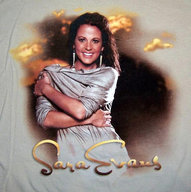 Sara Evans Tour 2009 t-shirt Medium country western music concert tan soap Sarah