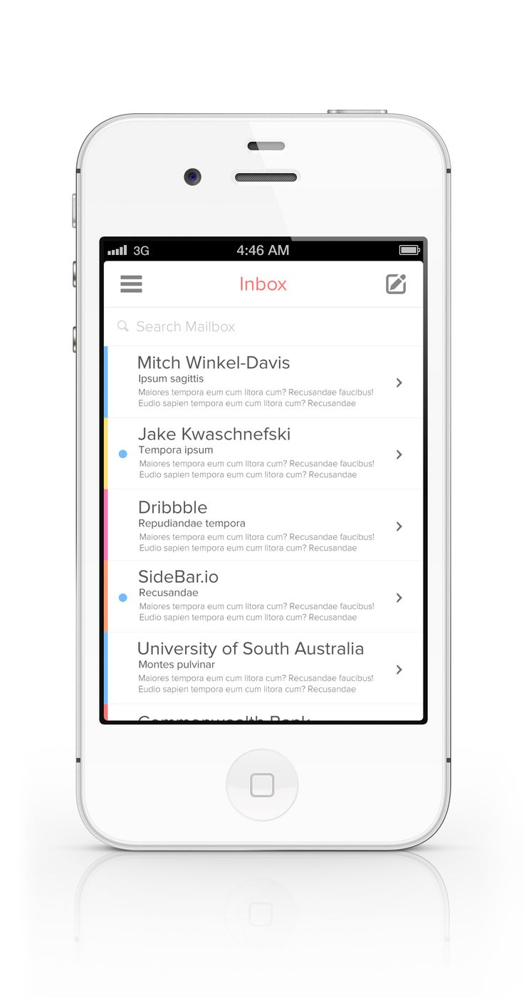 Design Trend 2013 - Flat And Minimal. iOS Mail App by Alex Vanderzon
