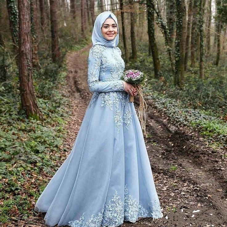 Cool Amazing 2017 New Arabic Muslim Sky Blue Wedding Dress Long Sleeve Bridal Gown With Hijab 2018 Check more at http://24myshop.ml/my-desires/amazing-2017-new-arabic-muslim-sky-blue-wedding-dress-long-sleeve-bridal-gown-with-hijab-2018/