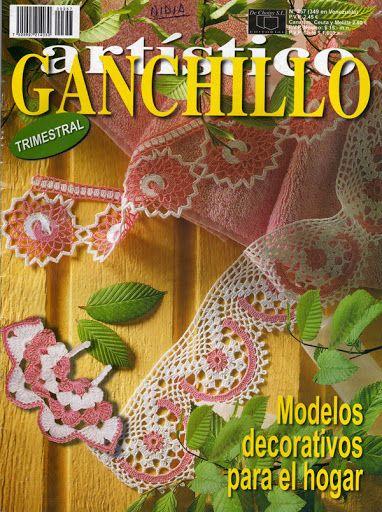 GANCHILLO ARTISTICO. Modelos decorativos para el hogar. - Nidia Ester Caleffa - Picasa Web Albums