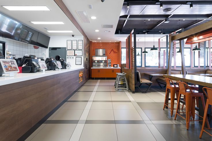 Burger King confía en el #pavimento #porcelánico #URBATEK- PORCELANOSA Grupo.Un ambiente cálido y moderno con toques #vintage para crear un espacio acogedor gracias a la combinación de texturas y materiales naturales.Los detalles del #proyecto de #interiorismo global puede verse en la renovación de los #restaurantes de #Madrid, #Barcelona, #SanSebastián o #París. - #restaurant #Burgerking #BK