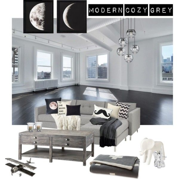 Modern Cozy Grey Living Room With Unique Touches And Vintage Charm